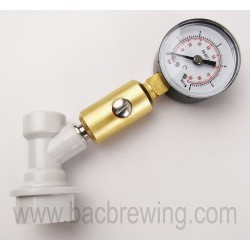 Simple pressure gauge for keg